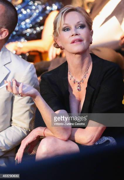 Actress Melanie Griffith attends Lucy Premiere during the 67th Locarno Film Festival on August 6 2014 in Locarno Switzerland