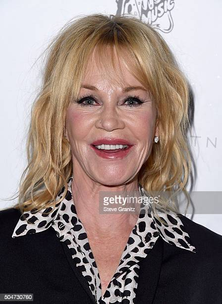 Actress Melanie Griffith attends Stella McCartney Autumn 2016 Presentation at Amoeba Music on January 12 2016 in Los Angeles California