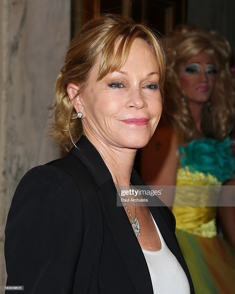 Actress <a gi-track='captionPersonalityLinkClicked' href=/galleries/search?phrase=Melanie+Griffith&family=editorial&specificpeople=171682 ng-click='$event.stopPropagation()'>Melanie Griffith</a> attends the 11th annual Best In Drag Show at The Orpheum Theatre on October 6, 2013 in Los Angeles, California.