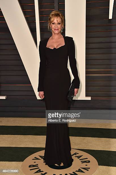 Actress Melanie Griffith attends the 2015 Vanity Fair Oscar Party hosted by Graydon Carter at Wallis Annenberg Center for the Performing Arts on...