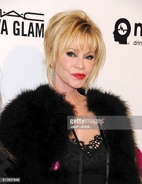 Actress Melanie Griffith attends the 24th annual Elton John AIDS Foundation's Oscar viewing party on February 28 2016 in West Hollywood California