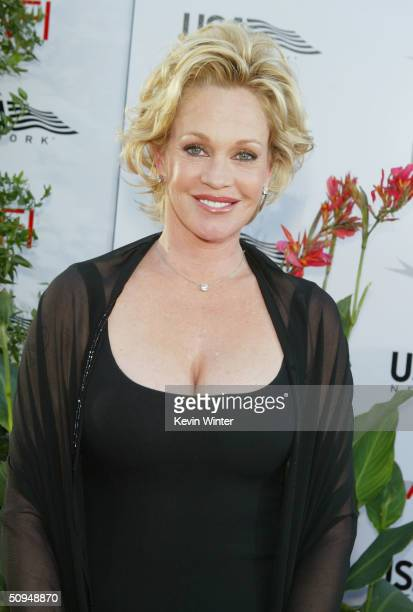 Actress Melanie Griffith attends the '32nd Annual AFI Lifetime Achievement Award A Tribute to Meryl Streep' held at the Kodak Theatre June 10 2004 in...