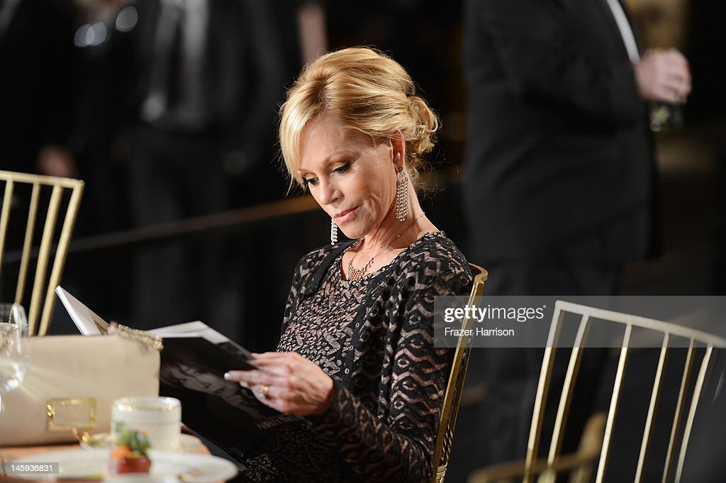Actress <a gi-track='captionPersonalityLinkClicked' href=/galleries/search?phrase=Melanie+Griffith&family=editorial&specificpeople=171682 ng-click='$event.stopPropagation()'>Melanie Griffith</a> attends the 40th AFI Life Achievement Award honoring Shirley MacLaine held at Sony Pictures Studios on June 7, 2012 in Culver City, California. The AFI Life Achievement Award tribute to Shirley MacLaine will premiere on TV Land on Saturday, June 24 at 9PM ET/PST.