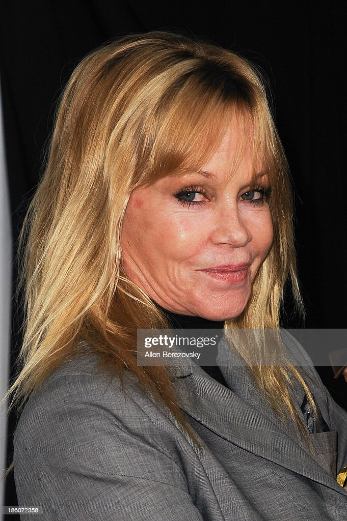Actress <a gi-track='captionPersonalityLinkClicked' href=/galleries/search?phrase=Melanie+Griffith&family=editorial&specificpeople=171682 ng-click='$event.stopPropagation()'>Melanie Griffith</a> attends the Amanda Foundation's annual 'Bow Wow Beverly Hills' Halloween Event at Two Rodeo on October 27, 2013 in Beverly Hills, California.
