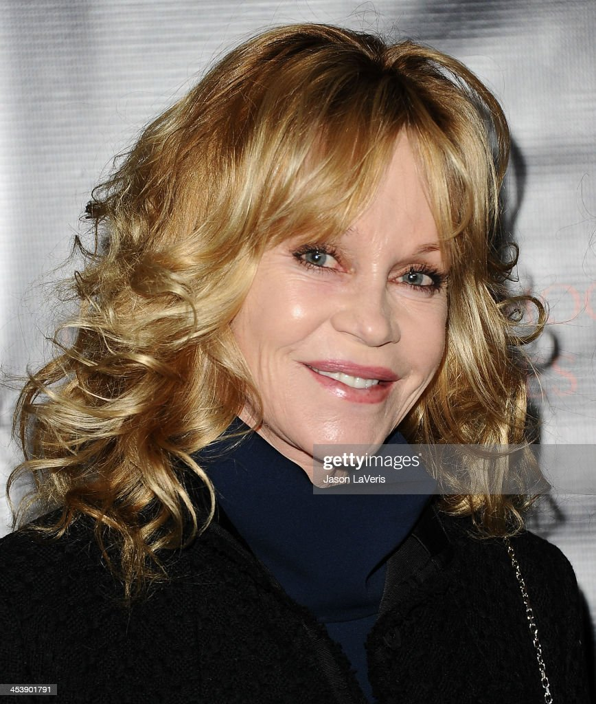 Actress <a gi-track='captionPersonalityLinkClicked' href=/galleries/search?phrase=Melanie+Griffith&family=editorial&specificpeople=171682 ng-click='$event.stopPropagation()'>Melanie Griffith</a> attends the 'August: Osage County' benefit screening at the Landmark Theater on December 5, 2013 in Los Angeles, California.