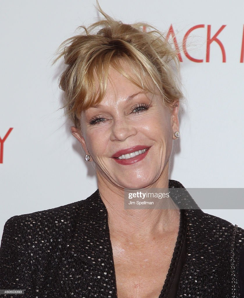 Actress <a gi-track='captionPersonalityLinkClicked' href=/galleries/search?phrase=Melanie+Griffith&family=editorial&specificpeople=171682 ng-click='$event.stopPropagation()'>Melanie Griffith</a> attends the 'Black Nativity' premiere at The Apollo Theater on November 18, 2013 in New York City.