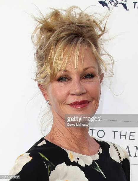 Actress Melanie Griffith attends the Humane Society of the United States' Annual To The Rescue Los Angeles Benefit at Paramount Studios on April 22...
