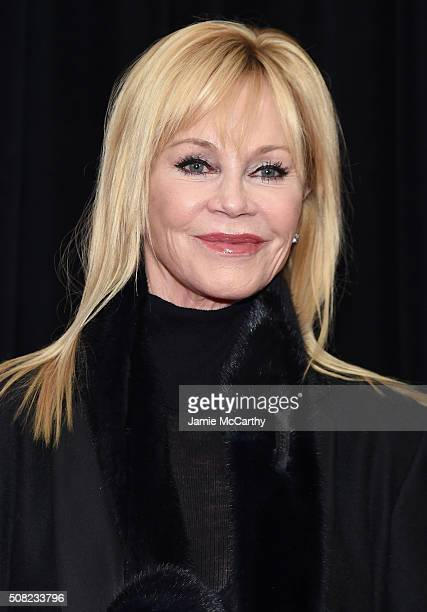 Actress Melanie Griffith attends the New York premiere of 'How To Be Single' at the NYU Skirball Center on February 3 2016 in New York City