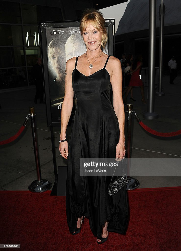 Actress <a gi-track='captionPersonalityLinkClicked' href=/galleries/search?phrase=Melanie+Griffith&family=editorial&specificpeople=171682 ng-click='$event.stopPropagation()'>Melanie Griffith</a> attends the premiere of 'Dark Tourist' at ArcLight Hollywood on August 14, 2013 in Hollywood, California.