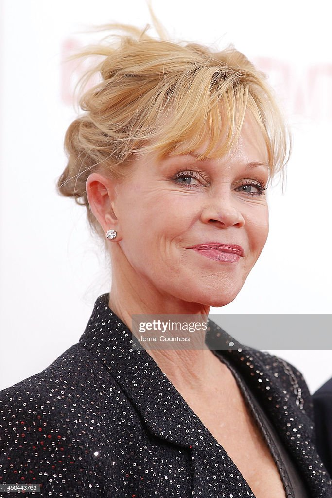 Actress <a gi-track='captionPersonalityLinkClicked' href=/galleries/search?phrase=Melanie+Griffith&family=editorial&specificpeople=171682 ng-click='$event.stopPropagation()'>Melanie Griffith</a> attends the'Black Nativity' premiere at The Apollo Theater on November 18, 2013 in New York City.