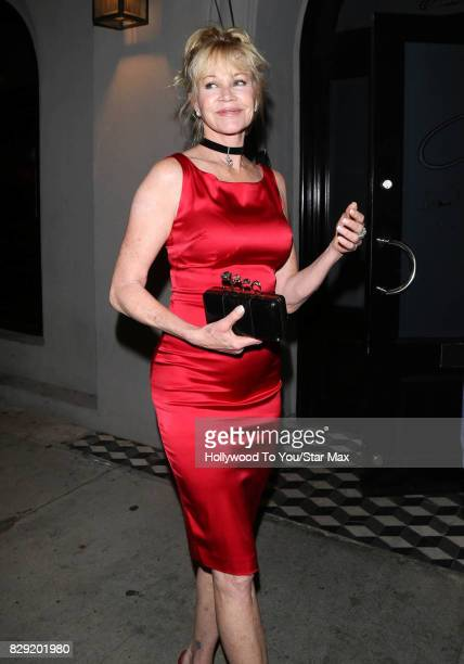 Actress Melanie Griffith is seen on August 9 2017 in Los Angeles CA