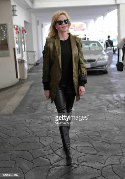 Actress Melanie Griffith is seen on December 3 2013 in Los Angeles California