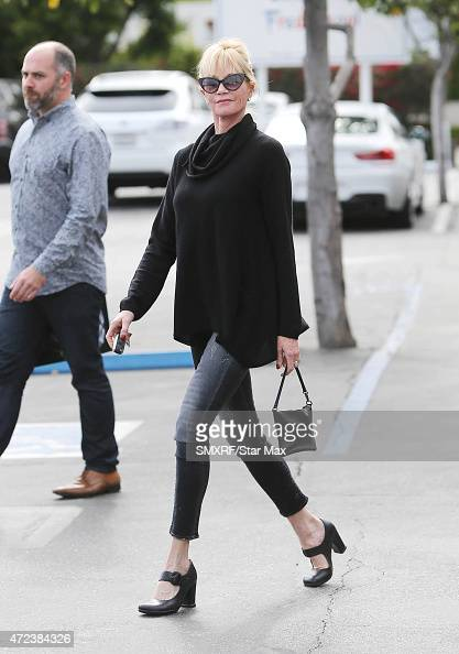 Actress Melanie Griffith is seen on May 6 2015 in Los Angeles California
