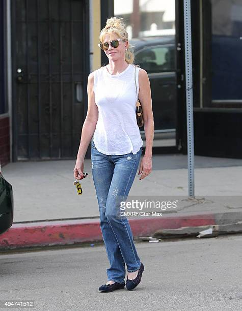Actress Melanie Griffith is seen on October 28 2015 in Los Angeles California