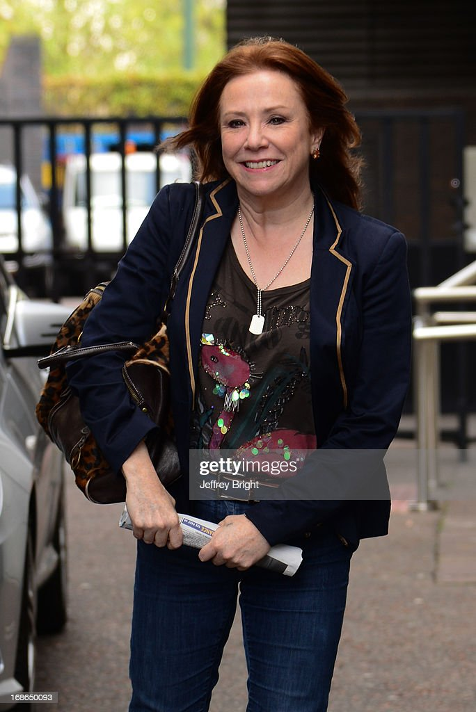 Actress Melanie Hill sighted leaving ITV studios on May 13, 2013 in London, England.