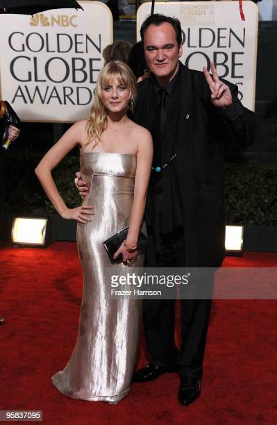 Actress Melanie Laurent and director Quentin Tarantino arrive at the 67th Annual Golden Globe Awards held at The Beverly Hilton Hotel on January 17...