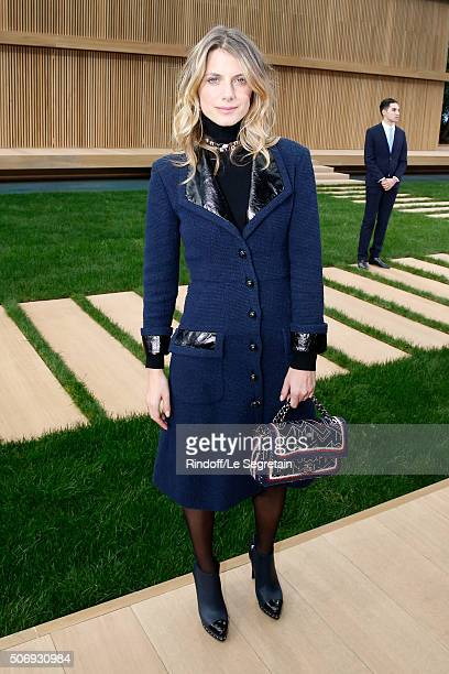 Actress Melanie Laurent attends the Chanel Spring Summer 2016 show as part of Paris Fashion Week on January 26 2016 in Paris France