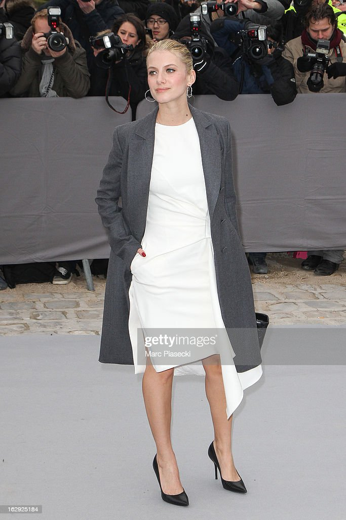 Actress Melanie Laurent attends the 'Christian Dior' Fall/Winter 2013 Ready-to-Wear show as part of Paris Fashion Week on March 1, 2013 in Paris, France.