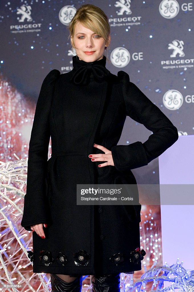 Actress Melanie Laurent attends the Christmas Illumination 2010 launch on Champs-Elysees in Paris.