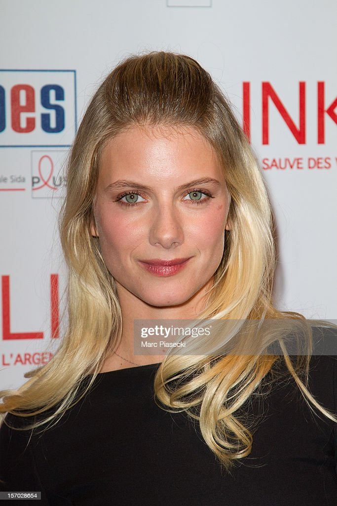 Actress Melanie Laurent attends the LINK dinner for AIDS '100 photgraphes se mobilisent contre le Sida' at Grand Palais on November 27, 2012 in Paris, France.