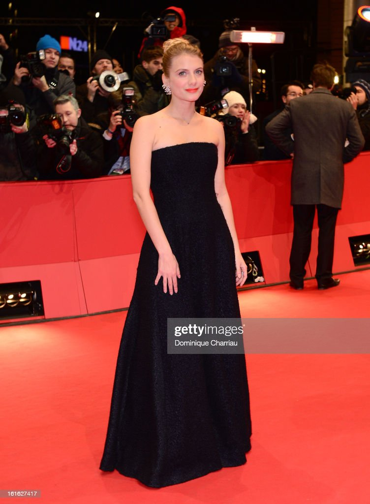 Actress Melanie Laurent attends the 'Night Train to Lisbon' Premiere during the 63rd Berlinale International Film Festival at the Berlinale Palast on...