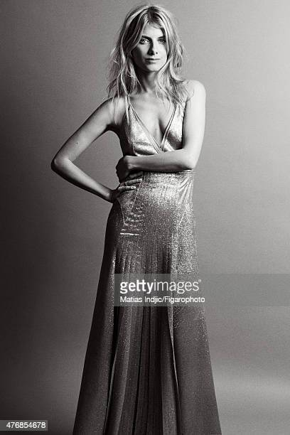 Actress Melanie Laurent is photographed for Madame Figaro on May 18 2015 at the Cannes Film Festival in Cannes France Dress Makeup by Dior PUBLISHED...