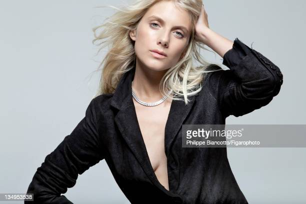 Actress Melanie Laurent is photographed for Madame Figaro on October 10 2011 in Paris France Figaro ID101927020 Jacket by Erwin Wasson for Zadig...