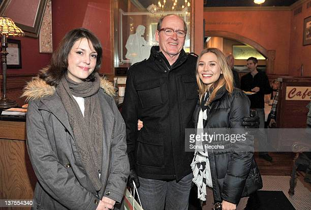 Actress Melanie Lynskey actor Richard Jenkins and actress Elizabeth Olsen attend the Gersh Agency's annual Sundance brunch during the 2012 Sundance...