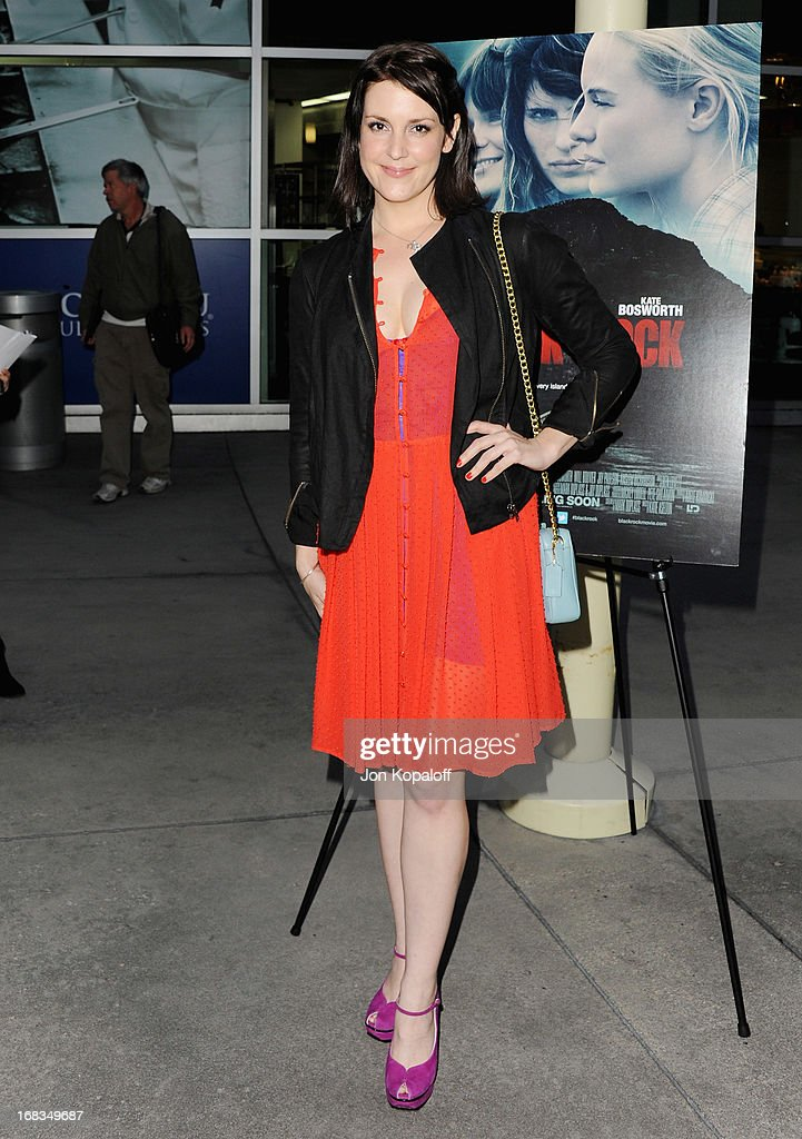 Actress Melanie Lynskey arrives at the Los Angeles Premiere 'Black Rock' at ArcLight Hollywood on May 8, 2013 in Hollywood, California.