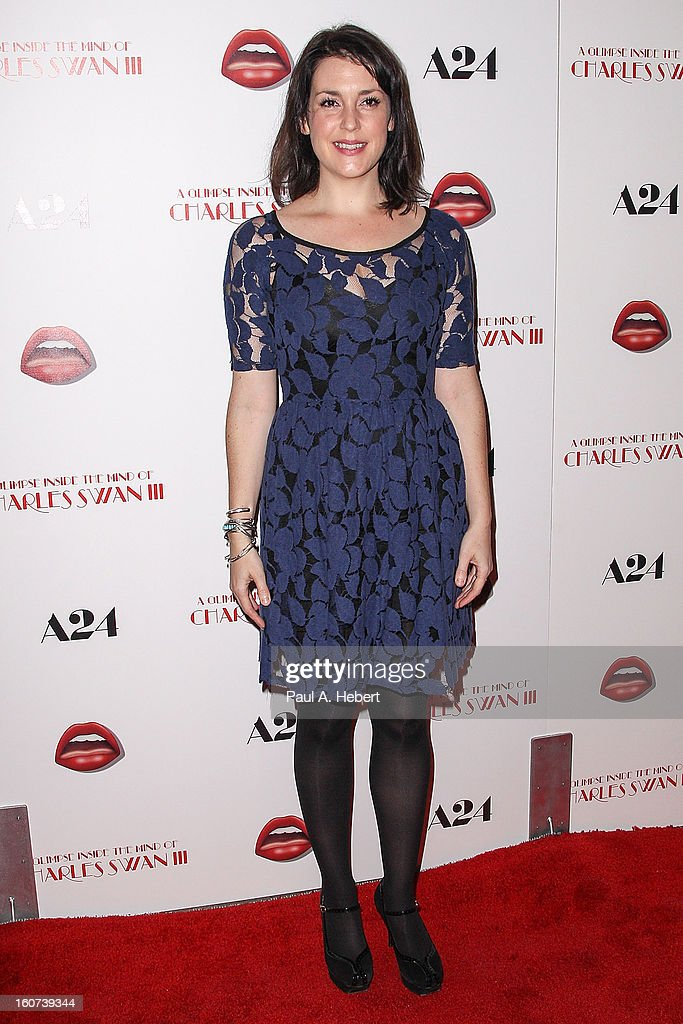 Actress Melanie Lynskey arrives at the premiere of A24's 'A Glimpse Inside The Mind of Charles Swan III' held at the ArcLight Hollywood on February 4, 2013 in Hollywood, California.