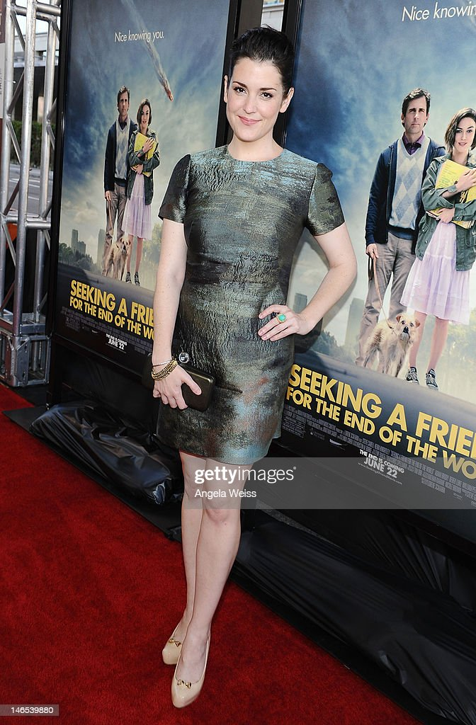 Actress Melanie Lynskey arrives at the premiere of 'Seeking a Friend for the End of the World' at the 2012 Los Angeles Film Festival held at Regal Cinemas L.A. Live on June 18, 2012 in Los Angeles, California.