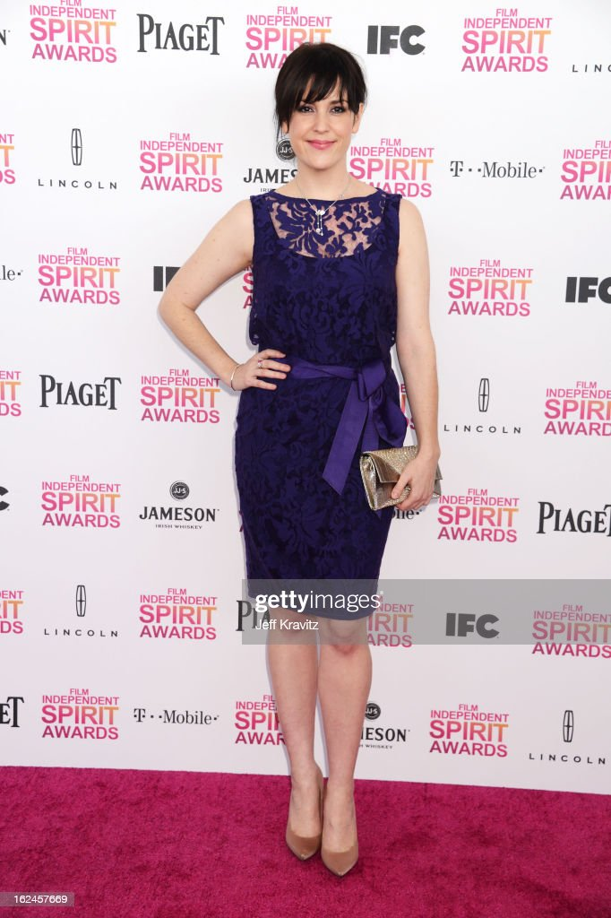 Actress Melanie Lynskey attends the 2013 Film Independent Spirit Awards at Santa Monica Beach on February 23, 2013 in Santa Monica, California.