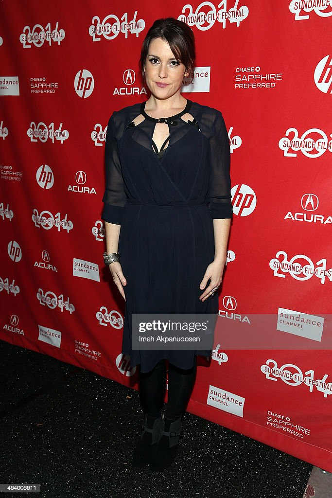Actress <a gi-track='captionPersonalityLinkClicked' href=/galleries/search?phrase=Melanie+Lynskey&family=editorial&specificpeople=887429 ng-click='$event.stopPropagation()'>Melanie Lynskey</a> attends the 'Happy Christmas' premiere at Library Center Theater during the 2014 Sundance Film Festival on January 19, 2014 in Park City, Utah.