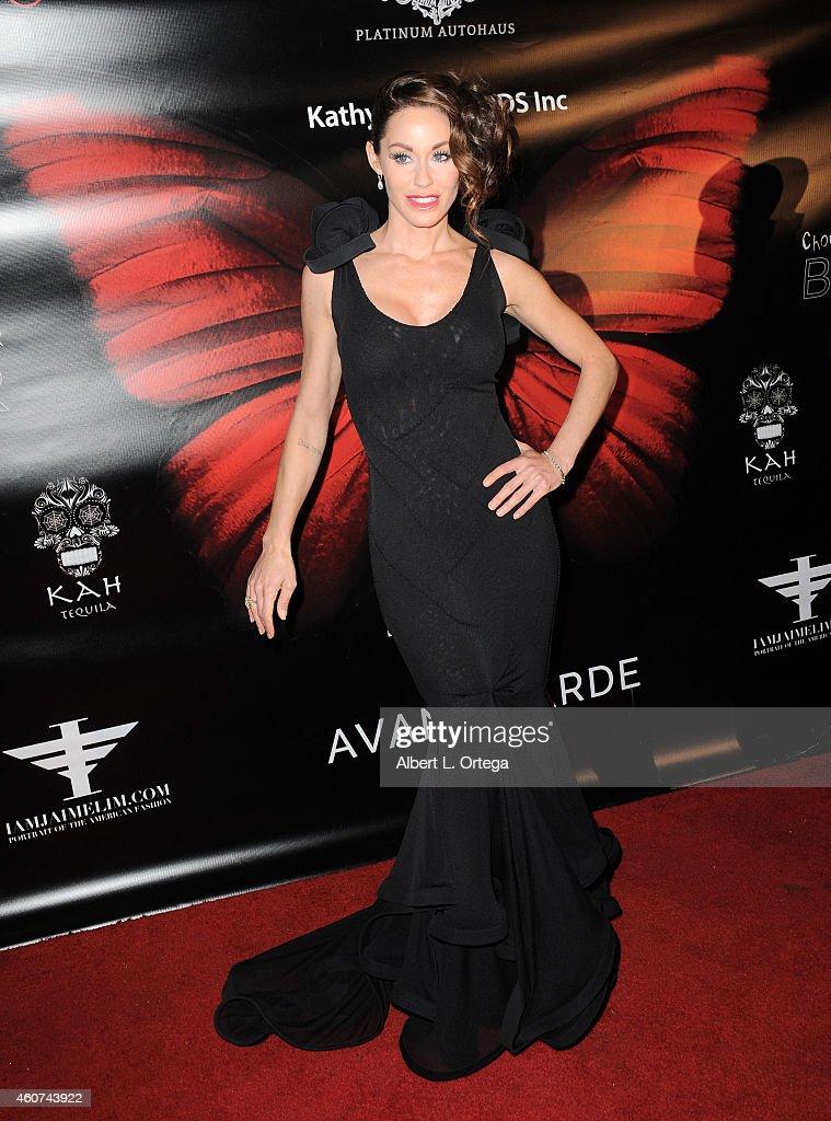 Actress Melanie Marden arrives for Avant Garde Magazine Presentation of Couture Du Couture Featuring 'ResentmentRunEvil' Fashion Show By Jason Ryan...