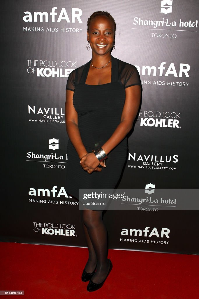 Actress Melanie Nicholls-King attends amfAR Cinema Against AIDS TIFF 2012 during the 2012 Toronto International Film Festival at Shangri-La Hotel on September 7, 2012 in Toronto, Canada.