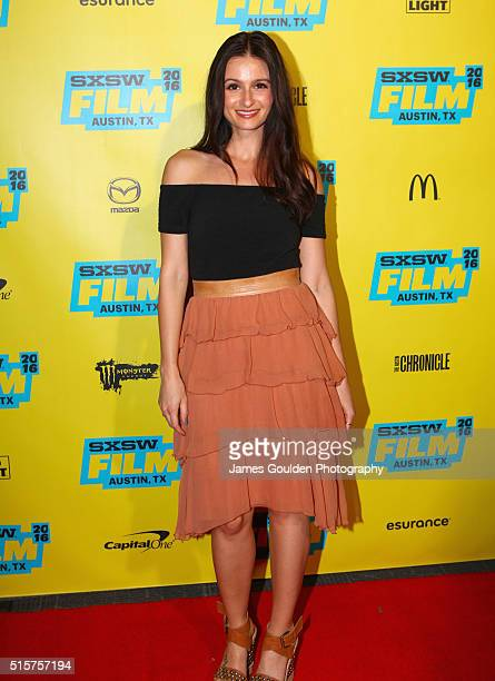Actress Melanie Papalia attends the 'You Me Her' premiere during the 2016 SXSW Music Film Interactive Festival at Vimeo on March 15 2016 in Austin...