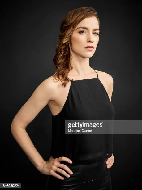 Actress Melanie Scrofano from 'Wynonna Earp' is photographed for Entertainment Weekly Magazine on July 21 2016 at Comic Con in the Hard Rock Hotel in...