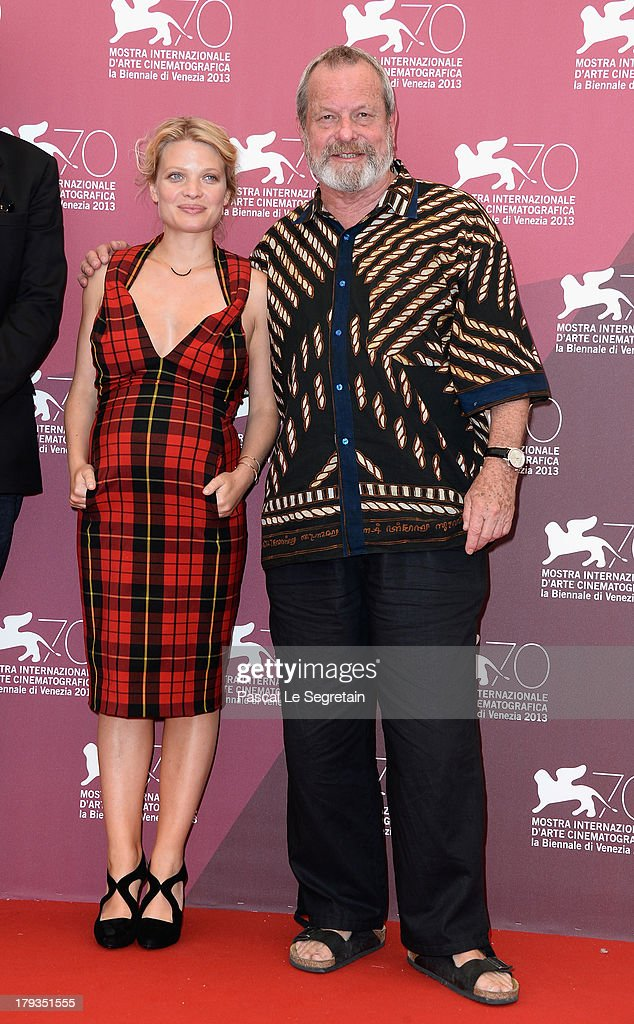 Actress Melanie Thierry and director Terry Gilliam attend 'The Zero Theorem' Photocall during the 70th Venice International Film Festival at the Palazzo del Casino on September 2, 2013 in Venice, Italy.