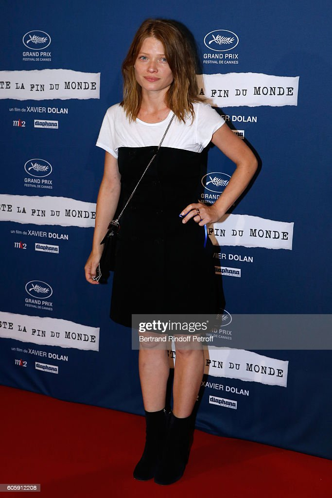 Actress Melanie Thierry attends the 'Juste la fin du Monde' Paris Premiere at Mk2 Bibliotheque on September 15, 2016 in Paris, France.
