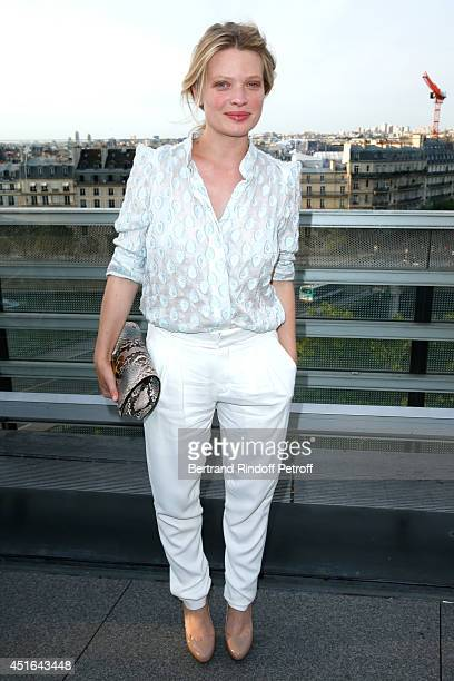 Actress Melanie Thierry attends the launching of Chloe new Perfume 'Love Story' Held at Institut du Monde Arabe on July 2 2014 in Paris France
