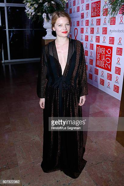 Actress Melanie Thierry attends the Sidaction Gala Dinner 2016 as part of Paris Fashion Week Held at Pavillon d'Armenonville on January 28 2016 in...