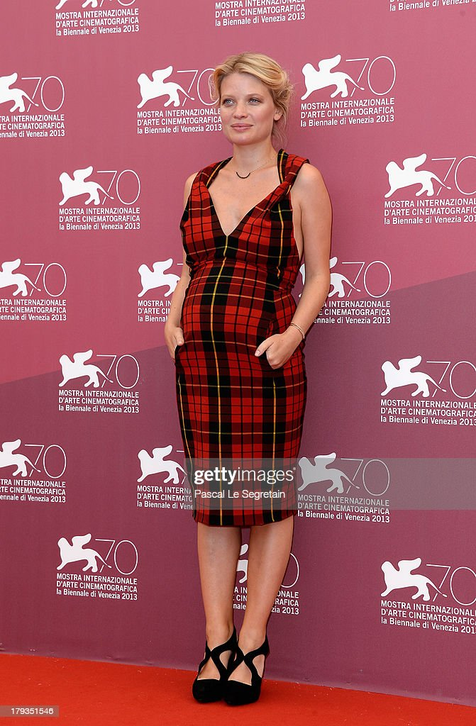 Actress <a gi-track='captionPersonalityLinkClicked' href=/galleries/search?phrase=Melanie+Thierry&family=editorial&specificpeople=591332 ng-click='$event.stopPropagation()'>Melanie Thierry</a> attends 'The Zero Theorem' Photocall during the 70th Venice International Film Festival at the Palazzo del Casino on September 2, 2013 in Venice, Italy.