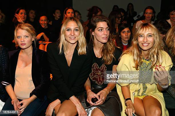 Actress Melanie Thierry Luisa Orsini Antonine Peduzzi and Alexandra Golovanoff attends the Zadig and Voltaire show as part of the Paris Fashion Week...