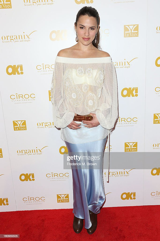 Actress Melia Kreiling attends the OK! Magazine Pre-GRAMMY Party at the Sound Nightclub on February 7, 2013 in Hollywood, California.