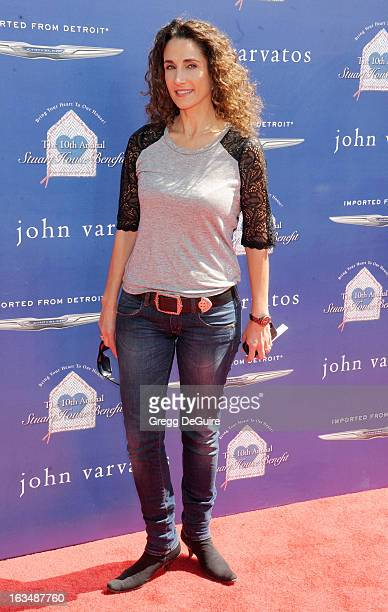 Actress Melina Kanakaredes arrives at John Varvatos 10th Annual Stuart House Benefit at John Varvatos Los Angeles on March 10 2013 in Los Angeles...