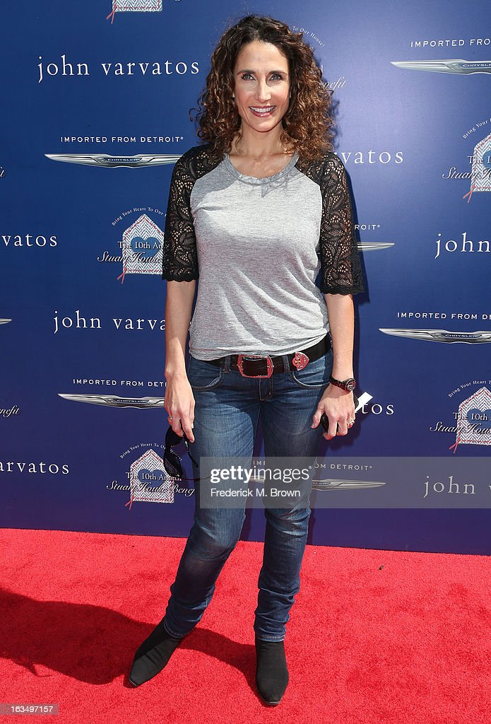 Actress Melina Kanakaredes attends John Varvatos 10th Annual Stuart House Benefit Presented by Chrysler, at John Varvatos Los Angeles on March 10, 2013 in Los Angeles, California.