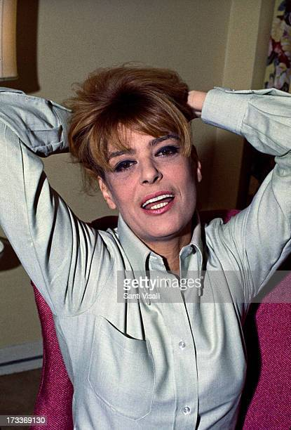 Actress Melina Mercouri posing for a portrait on April 21968 in New York New York