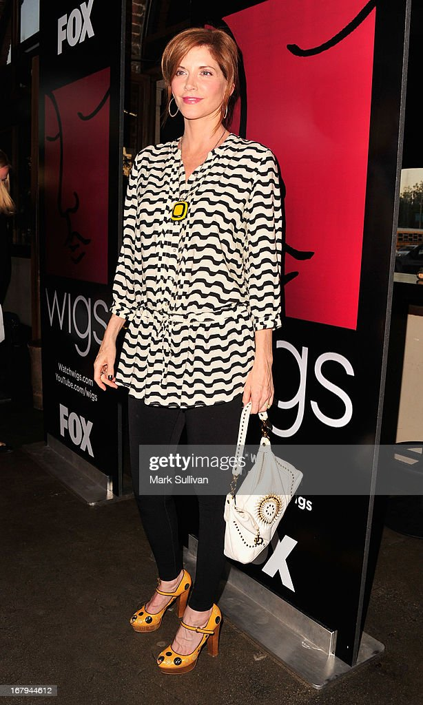 Actress <a gi-track='captionPersonalityLinkClicked' href=/galleries/search?phrase=Melinda+McGraw&family=editorial&specificpeople=2983630 ng-click='$event.stopPropagation()'>Melinda McGraw</a> arrives for the party to celebrate the one year anniversary of The WIGS Digital Channel at Akasha on May 2, 2013 in Culver City, California.
