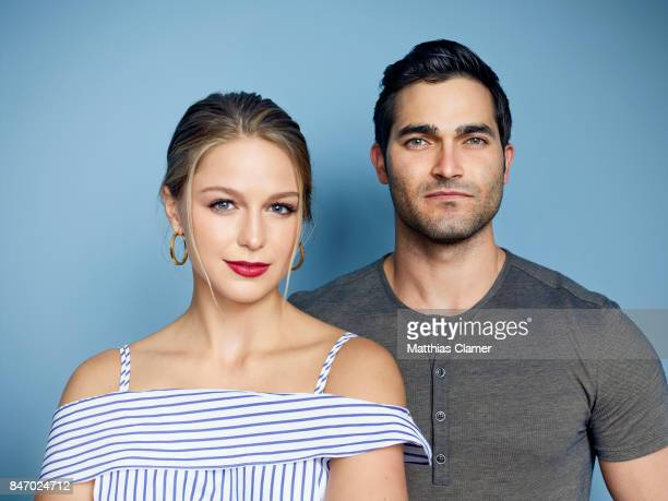 Actress Melissa Benoist and actor Tyler Hoechlin from 'Supergirl' are photographed for Entertainment Weekly Magazine on July 23 2016 at Comic Con in...