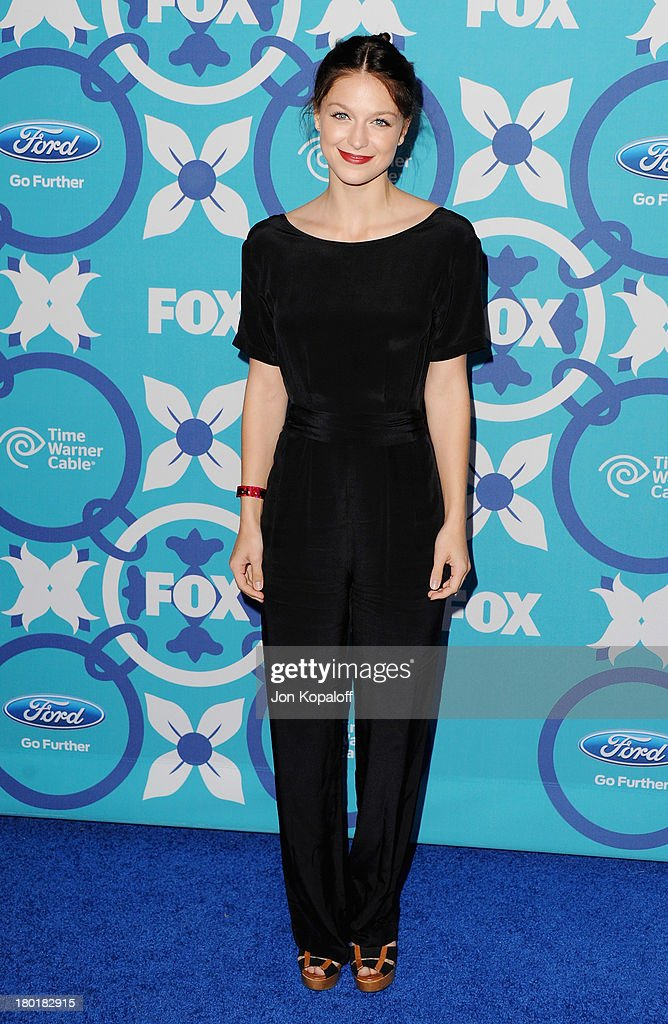Actress <a gi-track='captionPersonalityLinkClicked' href=/galleries/search?phrase=Melissa+Benoist&family=editorial&specificpeople=5294908 ng-click='$event.stopPropagation()'>Melissa Benoist</a> arrives at the 2013 Fox Fall Eco-Casino Party at The Bungalow on September 9, 2013 in Santa Monica, California.